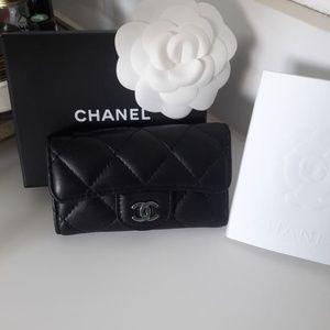 Authentic Chanel Lambskin Key Holder